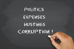 Corruption of politics Stock Image