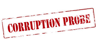 Corruption probe Royalty Free Stock Photo