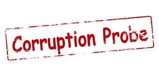 Corruption probe Royalty Free Stock Images