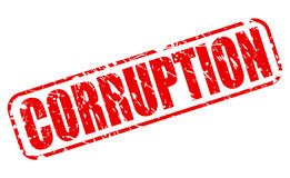 Corruption red stamp text Royalty Free Stock Photography
