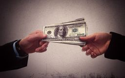 Corruption. Secretly exchange of money between business person Stock Images