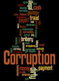 Corruption, word cloud concept 4 Stock Images