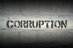 Corruption WORD GR image libre de droits