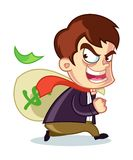 Corruptor Stealing Money Cartoon Vector Illustration Royalty Free Stock Image