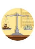 Corruzione della corte Immagine Stock