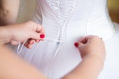 Corsé de la boda del cordón Fotografía de archivo