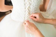 Corsé de la boda del cordón Imagenes de archivo