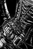 Corsé negro del látex Imagenes de archivo