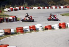 Corsa 1 di Kart Fotografie Stock