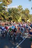 Corsa 2009 del ciclo di Milano-Sanremo Fotografie Stock