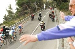 Corsa 2011 del ciclo di Milano-Sanremo Fotografia Stock Libera da Diritti