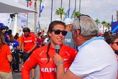 Corsa Alicante 2017 dell'oceano di Tamara Echegoyen Team Mapre Volvo Immagine Stock