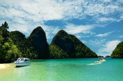 Corsa all'isola tropicale Fotografie Stock