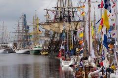 Corsa alta delle navi Fotografia Stock Libera da Diritti