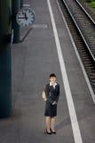 Corsa asiatica della donna di affari Fotografia Stock