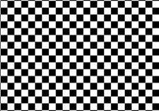 Corsa in bianco e nero e modello a quadretti Fotografia Stock