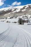 Corsa campestre Ski Slope Immagine Stock