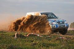 Corsa che attraversa il paese polacca di Baja Fotografia Stock Libera da Diritti