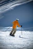 Corsa con gli sci alpina Immagine Stock Libera da Diritti