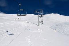 Corsa con gli sci alpina Fotografia Stock