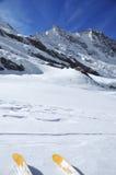 Corsa con gli sci del ghiacciaio Immagine Stock Libera da Diritti