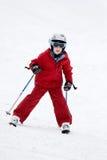 Corsa con gli sci del ragazzo Immagine Stock Libera da Diritti