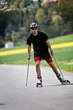 Corsa con gli sci del rullo Fotografia Stock Libera da Diritti