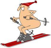 Corsa con gli sci dell'uomo nel patito Immagine Stock Libera da Diritti