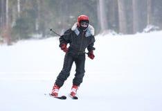 Corsa con gli sci della donna Immagine Stock