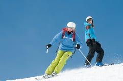 Corsa con gli sci della famiglia Immagine Stock Libera da Diritti
