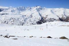 Corsa con gli sci della Francia Fotografia Stock