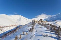 Corsa con gli sci della montagna, Palandoken, Erzurum Fotografie Stock