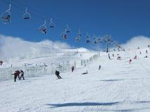 Corsa con gli sci della neve Fotografie Stock