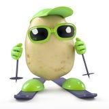 corsa con gli sci della patata 3d Fotografia Stock Libera da Diritti