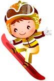 Corsa con gli sci della ragazza illustrazione di stock