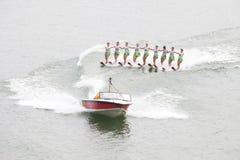 Corsa con gli sci di acqua cinese delle signore Fotografia Stock Libera da Diritti