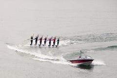 Corsa con gli sci di acqua delle donne Fotografia Stock Libera da Diritti