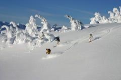 Corsa con gli sci di Backcountry immagine stock libera da diritti