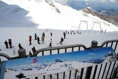 Corsa con gli sci di estate Immagini Stock