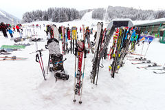 Corsa con gli sci di Flachau Immagini Stock Libere da Diritti