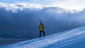 Corsa con gli sci di inverno nell'alto Tatras Fotografie Stock Libere da Diritti