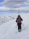 Corsa con gli sci di L05 Backcountry Fotografia Stock Libera da Diritti