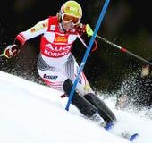 Corsa con gli sci di Marlies Schild Austria Immagine Stock Libera da Diritti
