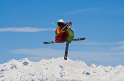 Corsa con gli sci di stile libero Immagine Stock