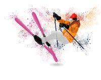 Corsa con gli sci di stile libero Immagini Stock