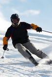Corsa con gli sci estrema Immagini Stock