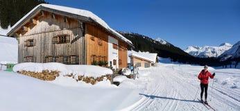 Corsa con gli sci nordica in Lech Immagini Stock