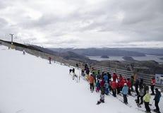Corsa con gli sci Nuova Zelanda Fotografie Stock