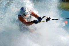 Corsa con gli sci a piedi nudi 01 Fotografie Stock Libere da Diritti
