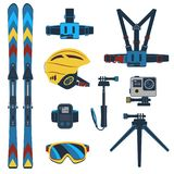 Corsa con gli sci Sport invernali estremi Fotografie Stock
